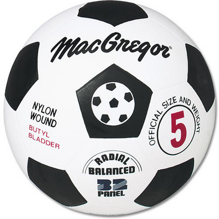 MacGregor® Rubber Size 5 Soccer Ball
