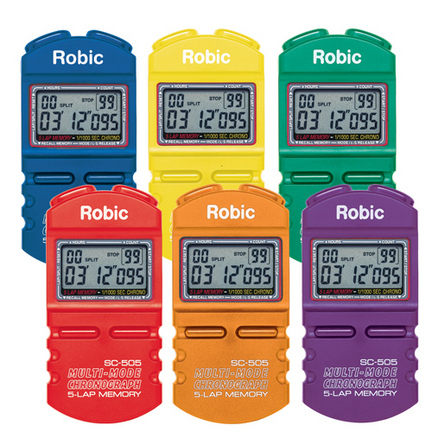 Robic 505 Sports Chronometer (6 Color Pack) CP-1240283