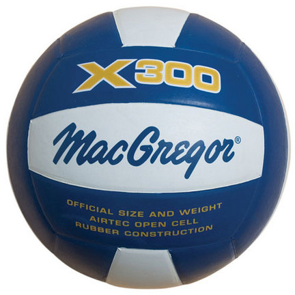 MacGregor X300 Rubber Volleyball (Royal / White)