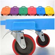 """16"""" Multi-Terrain Caster Scooter Boards (Assorted) - Set of 6"""