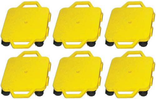 """12"""" Ultra Glide Scooter Board in Yellow (Set of 6)"""