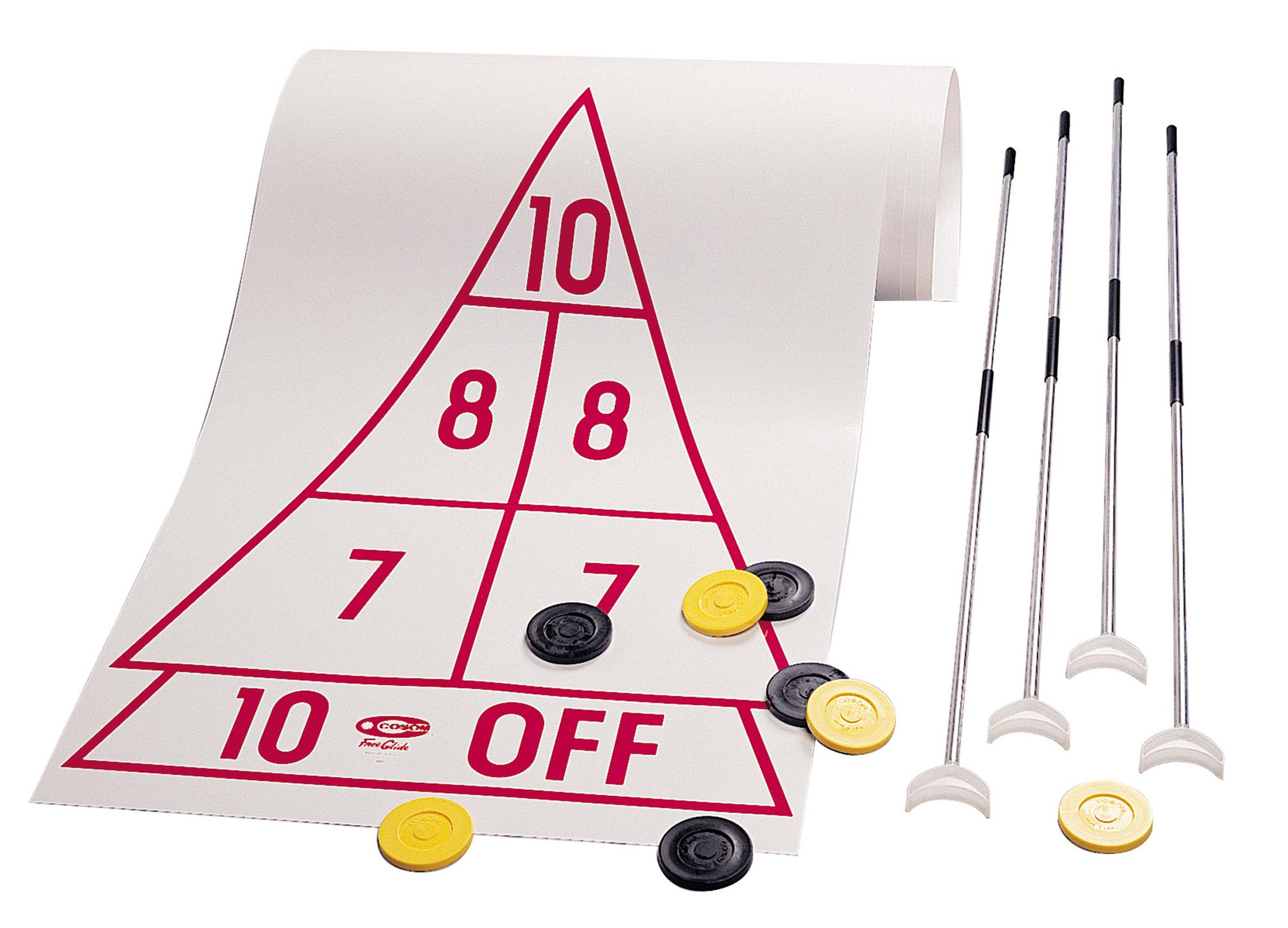 Shuffleboard Set with 4 Cues