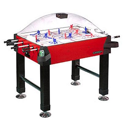 Signature Stick Hockey Game Table with Legs from Carrom Sports Red