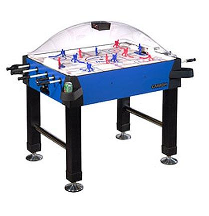 Signature Stick Hockey Game Table with Legs from Carrom Sports Blue