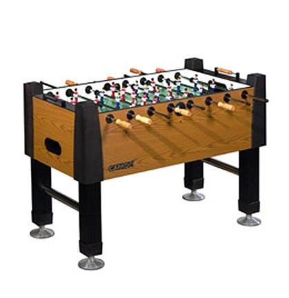 Signature Foosball Game Table with Manual Scoring from Carrom Sports (Burr Oak) CRM-525-00