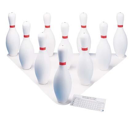 White Plastic Bowling Pin Set