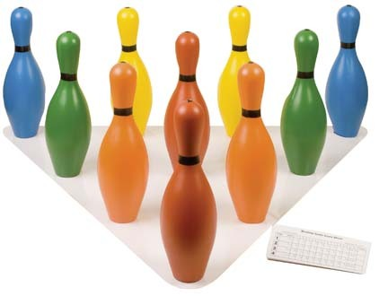Multicolor Plastic Bowling Pin Set