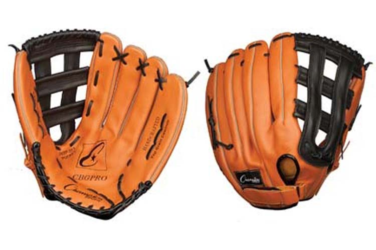 "14.5"" Leather Fielder's Softball Glove from Champion Sports (Worn on the Right Hand)"