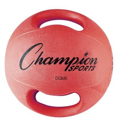 8 lb. Double Grip Medicine Ball