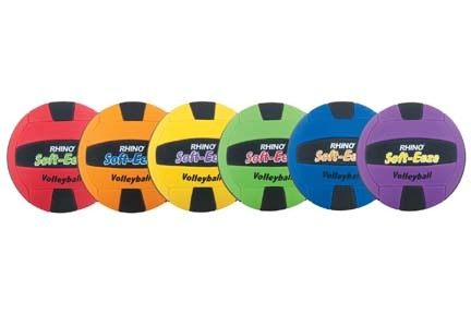 Rhino® Soft-Eeze Volleyballs - Set of 6