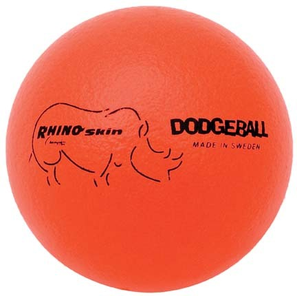 "6"" Rhino Skin® Neon Orange Dodge Balls - Set of 6"