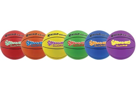 Rhino Skin® Super Squeeze Basketballs - Set of 6