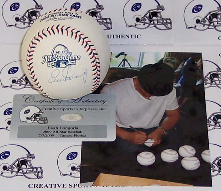 Evan Longoria Autographed 2009 All-Star Official Major League Baseball CSE-ABB-LONGORIA-09AS