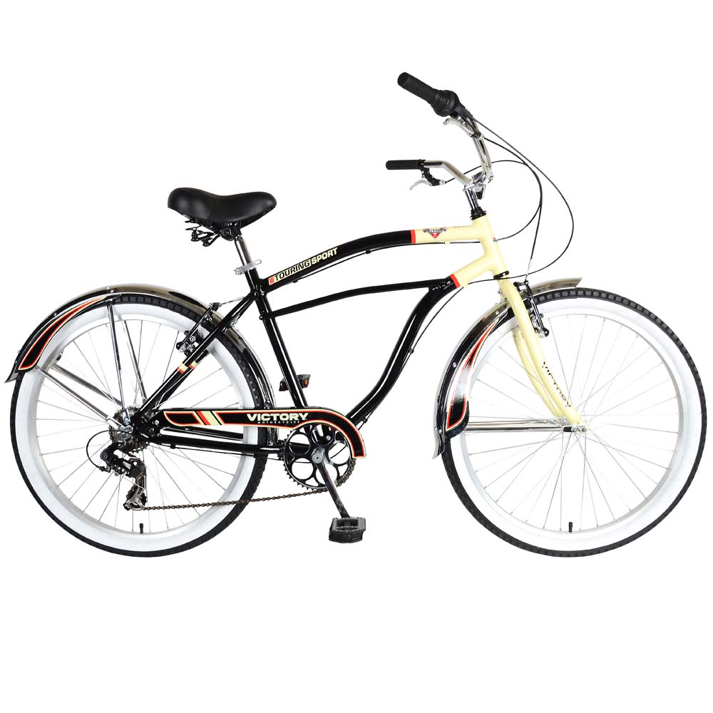Victory Touring Cruiser Mens 7 Speed Cruiser Bicycle