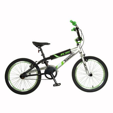 """Kawasaki Boy's KX20 20"""" BMX Bike - Green/Black"""