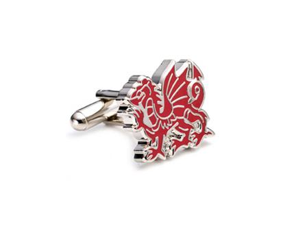 Welsh Dragon Cuff Links - 1 Pair
