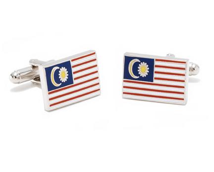 Malaysian Flag Cuff Links - 1 Pair