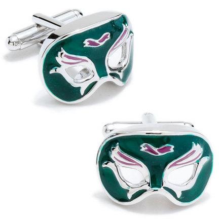 Mardi Gras Venetian Mask Cuff Links - 1 Pair CUF-CC-MRDI-GP