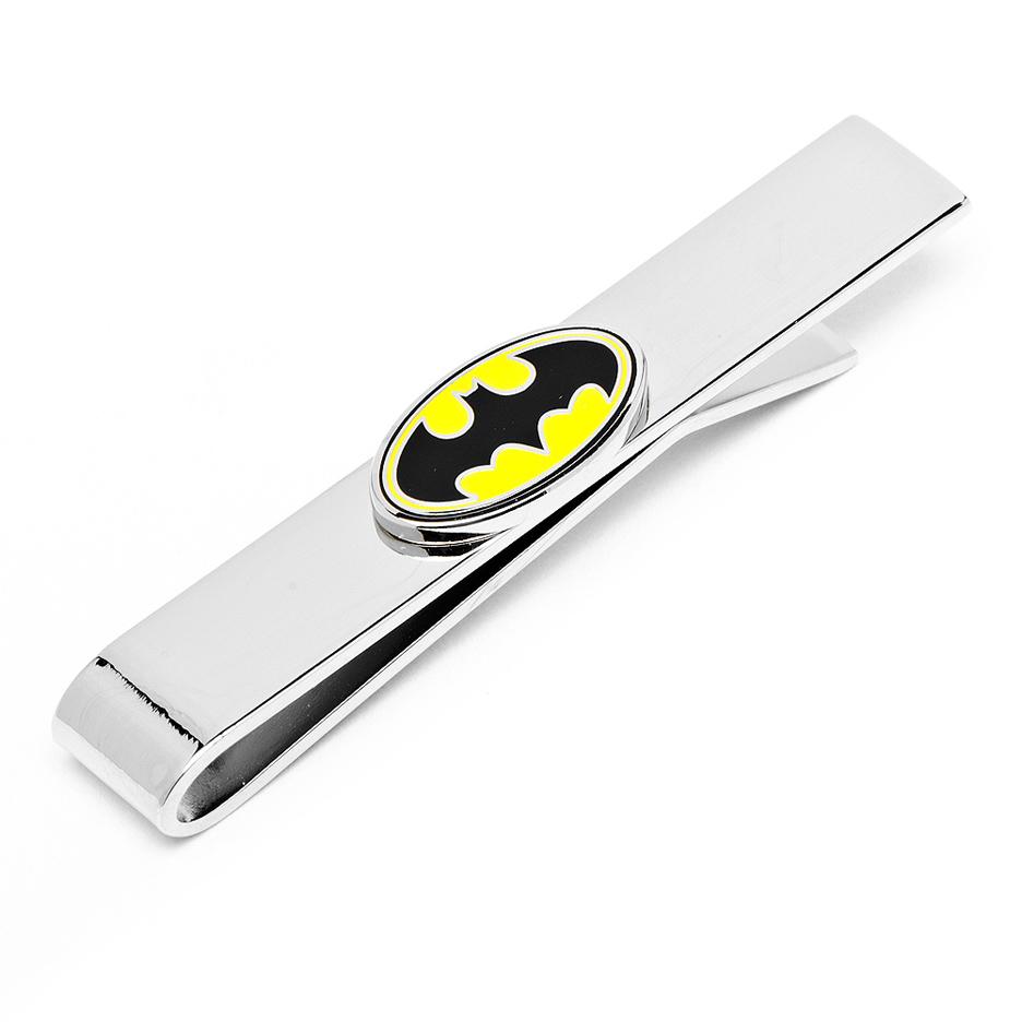 Enamel Oval Batman Logo Tie Bar