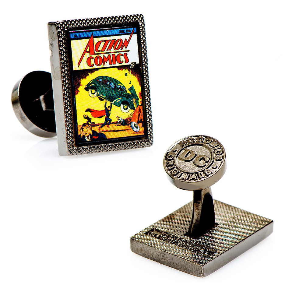 Superman First Issue Comic Cover Cuff Links - 1 Pair CUF-DC-SC1-GM