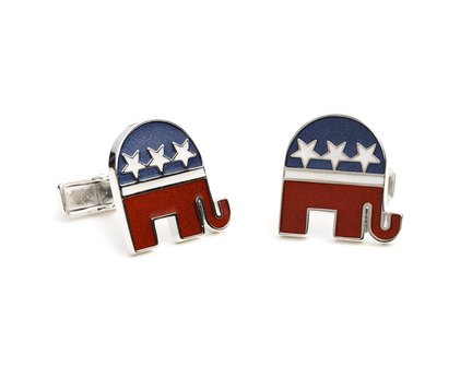 Republican Sterling Silver Cuff Links - 1 Pair