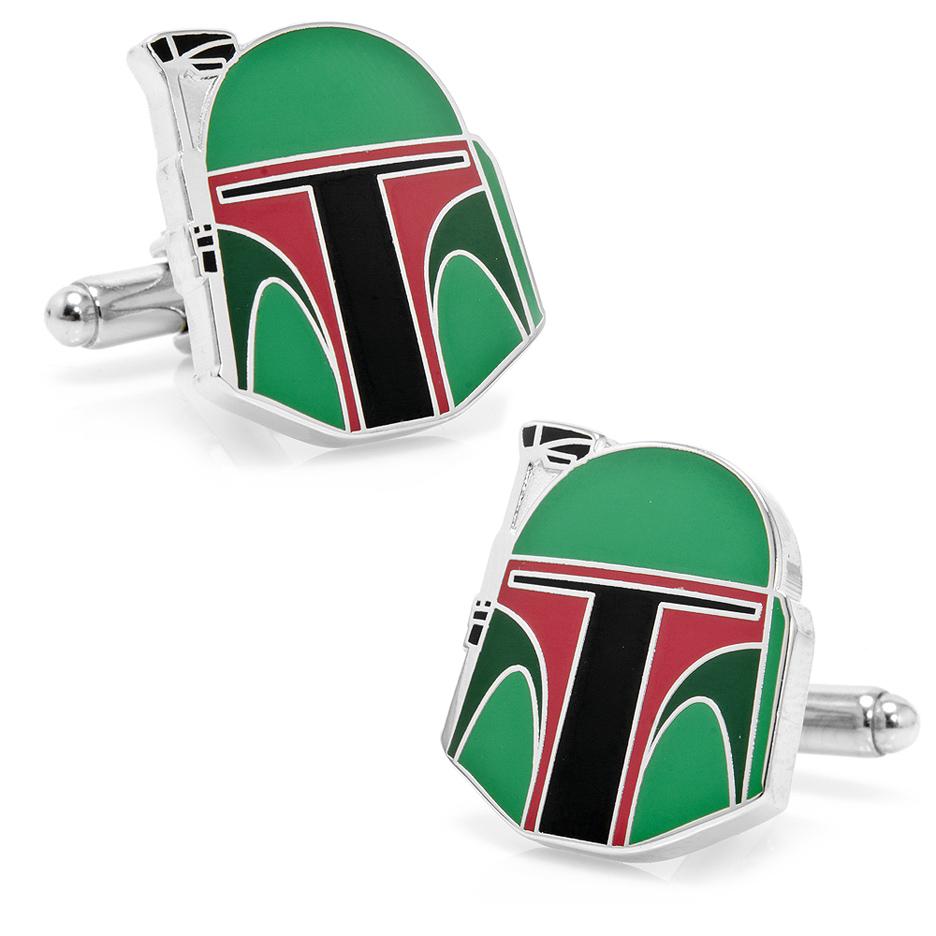 Star Wars Boba Fett Helmet Cuff Links - 1 Pair CUF-SW-BFH-SL