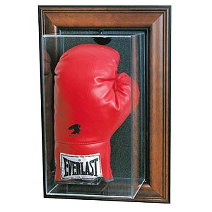 Wall Mountable Boxing Glove Display Case (Mahogany Finish)