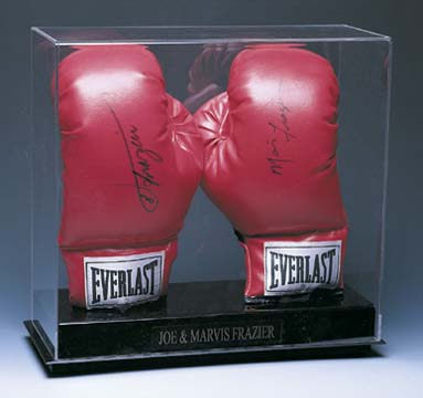 "Double ""Vertical"" Boxing Glove Display Case"