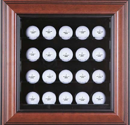 Deluxe 20 Golf Ball Cabinet Style Display Case (CW-GOLF-20 GOLF-20 Caseworks) photo