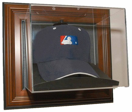 Case-Up Baseball Cap Display Case with Wood Frame