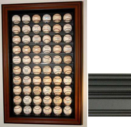 60 Baseball Display Case (Black Finish)