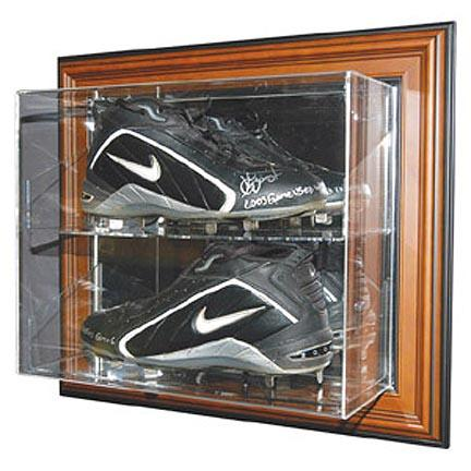 Case-Up Double Baseball Cleat Display Case (Mahogany)