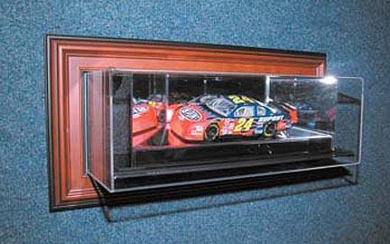 """4th Dimension """"Case-Up"""" 1 / 24 Scale Single Car Display Case in Black Frame"""