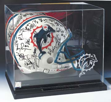 Full Size Football Helmet Display Case with Mirrored Back and Engraved NFL Team Logo CW-NFL-101-L-EL