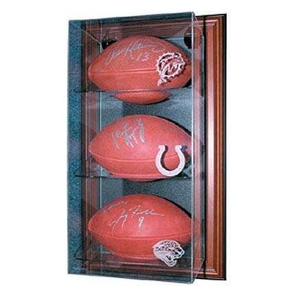 Case-Up 3 Football Display Case with Black Frame