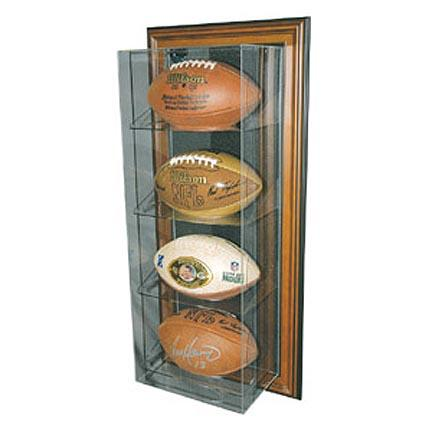 Case-Up 4 Football Display Case with Black Frame