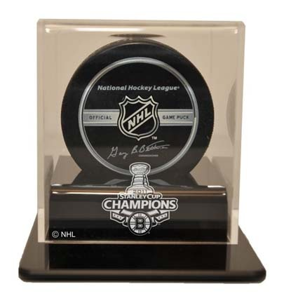 Boston Bruins 2011 Stanley Cup Champions Single Hockey Puck Display Case (UV Protected) CW-NHL-301-ST11BOS-UV