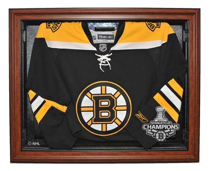Boston Bruins 2011 Stanley Cup Champions Removable Face Jersey Display Case (Brown) CW-NHL-348-ST11BOS-W