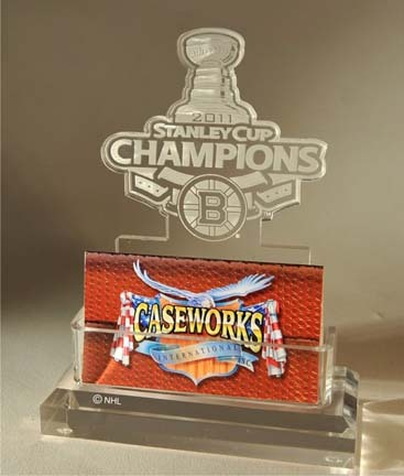 Boston Bruins 2011 Stanley Cup Champions Business Card Holder in Gift Box CW-NHL-BCH-GB-ST11BOS