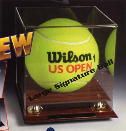 Signature Oversized Tennis Ball Display Case with Black Base