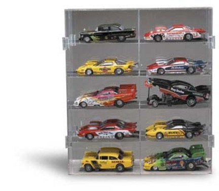 10 Car 1/24 Scale Funny Car Display Case from Clearwater Displays