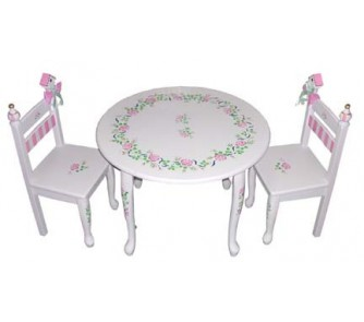 Quick Overview. Princess Rose Chair and Table Set ...  sc 1 st  Online Sports & Princess Rose Chair and Table Set (White) - OnlineSports.com