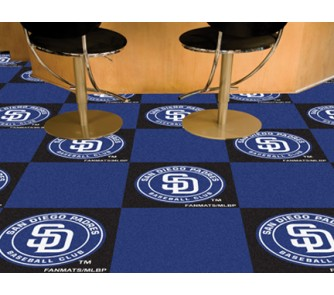 "Buy San Diego Padres 18"" x 18"" Carpet Tiles (Box of 20) now!"