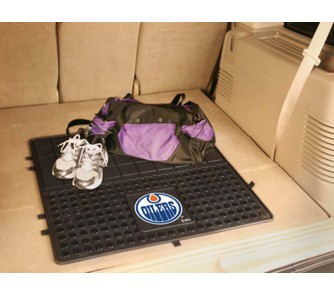 """Buy Edmonton Oilers 31"""" x 31"""" Heavy Duty Vinyl Cargo Mat now!"""