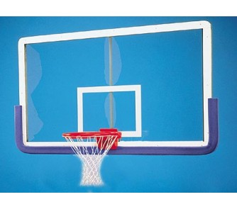 """Buy Outer Limit Pro 42"""" x 72"""" Rectangular Glass Basketball Backboard with Center... now!"""