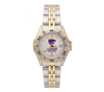 """Buy Kansas State Wildcats """"Kansas St with PCat"""" All Star Watch with Stainless Steel Band -... now!"""