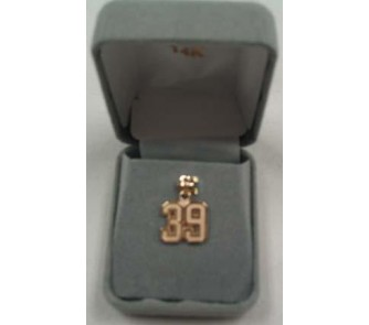 "Buy Small 1/2"" Double Number with No Bar Polished Pendant - 14KT Gold Jewelry now!"
