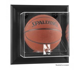 Buy Northwestern Wildcats Black Framed Wall Mountable Logo Basketball Display Case now!
