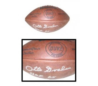 "Buy Otto Graham, Cleveland Browns Autographed Wilson Official NFL ""Duke"" Game Model... now!"