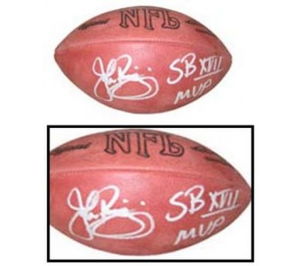 "Buy John Riggins Autographed Official Wilson NFL Rozelle Game Football with ""SB XVII... now!"